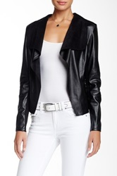 Bianco Jeans Pleather Jacket Black