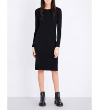 Izzue Ribbed Knit Dress Black