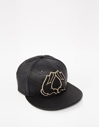 Cayler And Sons Cayler And Sons Flatbush Leather Snapback Cap Black