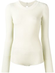 Jacquemus Fitted Ribbed Body Neutrals