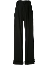 A.F.Vandevorst Drawstring Detail Palazzo Trousers Women Silk 38 Black