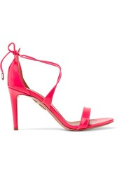 Aquazzura Linda Patent Leather Sandals Pink