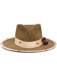 Nick Fouquet 'Devil And Rose' Hat Brown