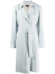 Theory Long Sleeve Belted Trench Coat 60