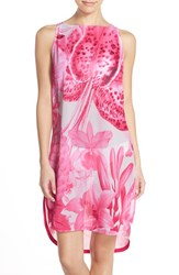 Women's Ted Baker London 'Tonal Encyclopedia' Floral Print Cover Up Dress