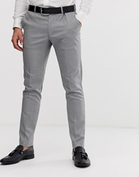 Burton Menswear Suit Trousers In Black Puppytooth