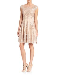 Kay Unger Lace A Line Dress Mocha