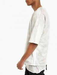 Thom Krom Off White Over Sized Double Layer T Shirt