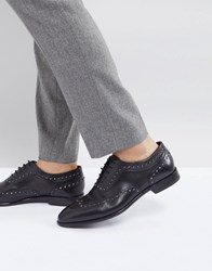 Hugo Appeal Lace Up Leather Stud Oxford Shoes In Black 001