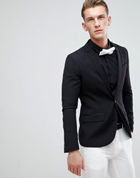Only And Sons Skinny Tuxedo Jacket Black