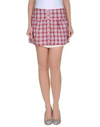 Duck Farm Skirts Mini Skirts Women Red