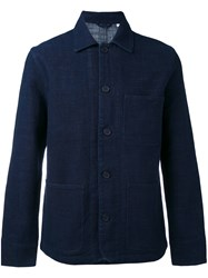Edwin Shirt Jacket Men Cotton S Blue
