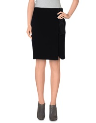 List Knee Length Skirts Black