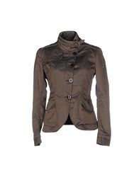 Dek'her Coats And Jackets Jackets Women Khaki