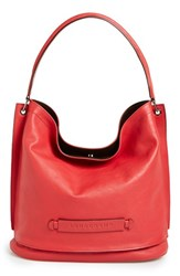 Longchamp '3D' Leather Hobo Red Cherry