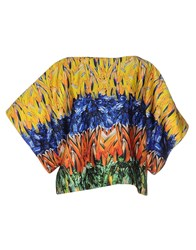Space Style Concept Shirts Blouses Women Yellow