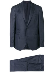 The Gigi Two Piece Checked Suit Blue