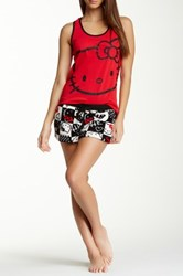 Hello Kitty Playing Favorite Pj Set Red