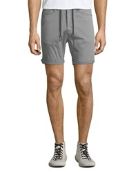 Civil Society Drawstring Waist Stretch Twill Shorts Gray