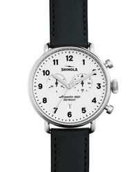 Shinola 43Mm Canfield Chronograph Watch Black White Black White