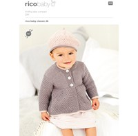 Rico Baby Classic Dk Beret And Coat Knitting Pattern 296