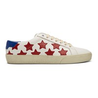 Saint Laurent White And Red Court Classic Sl 06 California Sneakers