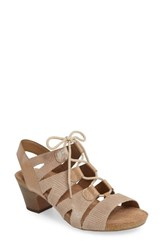 Josef Seibel Women's Ruth 29 Lace Up Sandal Creme Leather