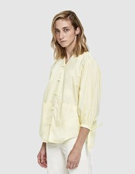 House Of Sunny Front Button Blouse Artificial Yellow