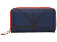 Orla Kiely Big Zip Wallet Twilight Blue Wallet Handbags Multi