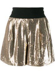 P.A.R.O.S.H. Sequinned Shorts Gold
