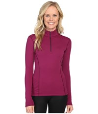Arc'teryx Phase Ar Zip Neck Long Sleeve Light Chandra Women's Clothing Red
