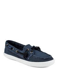 Sperry Sayel Away Canvas Boat Shoes Navy Blue