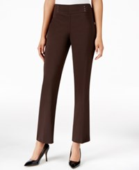 Jm Collection Petite Embellished Pull On Trousers Only At Macy's Espresso Roast