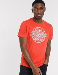Tom Tailor T Shirt With Summer Print Red