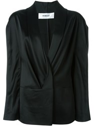 Chalayan Draped Lapel Blazer Black