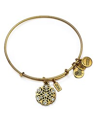 Alex And Ani Snowflake Expandable Wire Bangle Gold