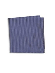 Armani Collezioni Thin Stripe Silk Pocket Square Grey