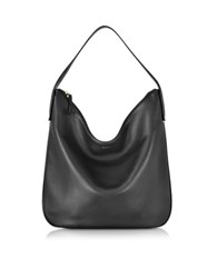 Dkny Greenwich Smooth Leather Hobo Bag Black
