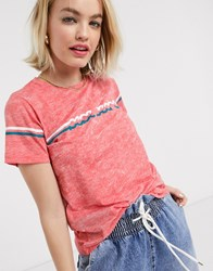 Pepe Jeans Lola 70'S T Shirt In Red