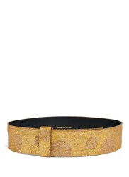 Dries Van Noten Metallic Polka Dot Lame Wide Belt