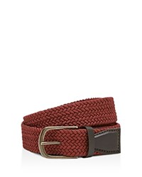 Ted Baker Lancast Woven Color Belt Dark Orange
