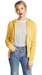 Pam And Gela Crossover Back Zip Hoodie Sunflower Yellow