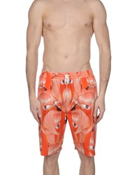 Katie Eary Swim Trunks Orange