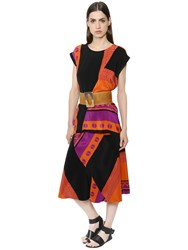 Nehera Layered Printed Silk Crepe Dress