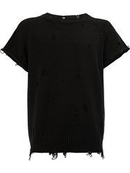 The Soloist Distressed Short Sleeve T Shirt Black