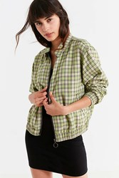 Urban Outfitters Uo Plaid Harrington Jacket Green Multi