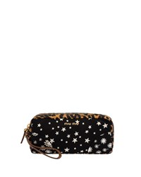 Miu Miu Faille Mix Print Cosmetic Bag Black Pattern