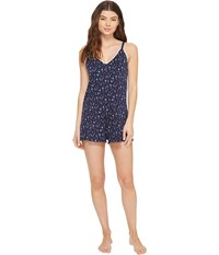 Lucky Brand Spring Bloom Knit Romper Watercolor Diamond Women's Jumpsuit And Rompers One Piece Gray