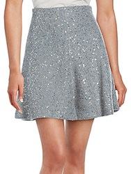Brunello Cucinelli Sequined Cashmere And Silk Skirt Blue