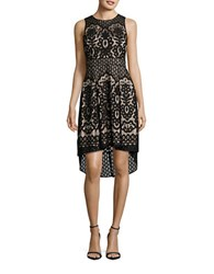 Vince Camuto Lace Hi Lo Dress Black